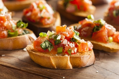 Homemade Italian Bruschetta Appetizer