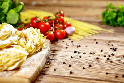 Ingredients for making fresh pasta