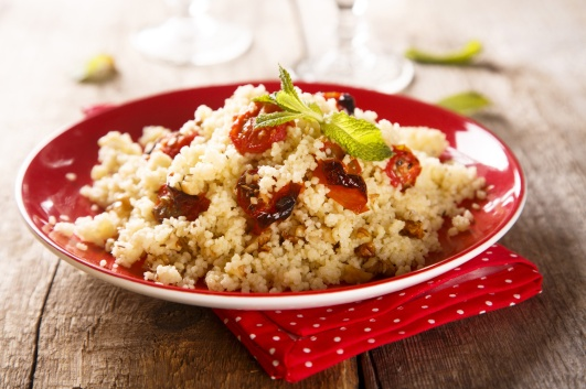 Couscous salad with tomatoes and herbs