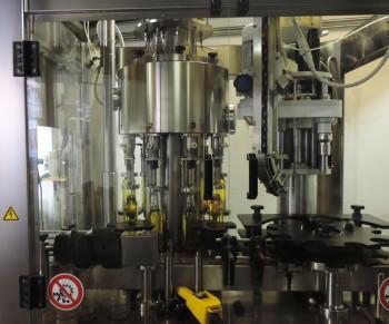 The bottling machine.