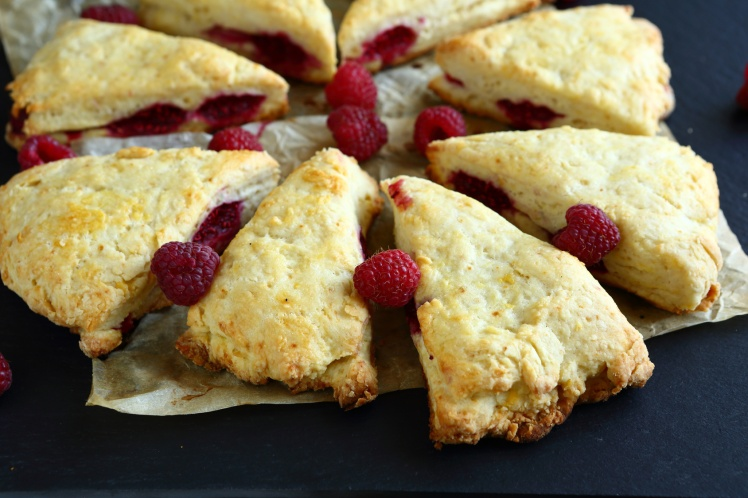 Sweet Raspberry Scone