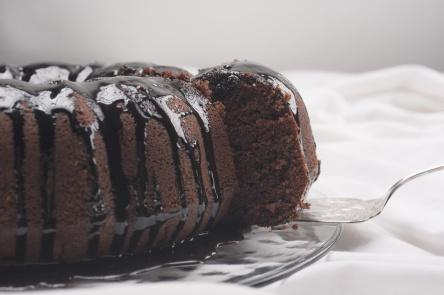 Cake on white background