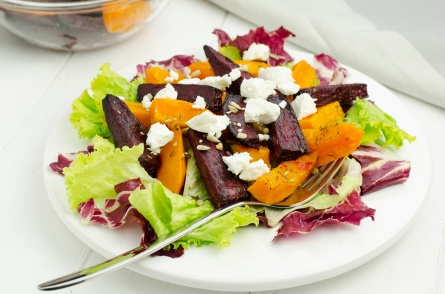 Salad with Beetroot, Pumpkin and goat cheese